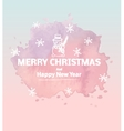 Hand drawn layout series christmas reindeer vector image vector image