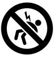 high voltage forbidden sign modern round sticker vector image