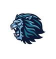 lion head roaring mascot logo design vector image vector image