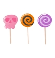 Lolipop candy symbol vector image vector image