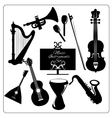 Music instruments black vector image vector image