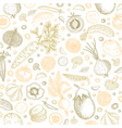 organic food design template pastel vegetables vector image