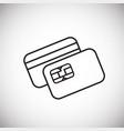 plastic card thin line on white background vector image