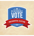 Presidential election label vector | Price: 1 Credit (USD $1)