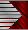 red metal striped background vector image vector image
