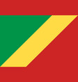 republic of the congo national current flag vector image vector image