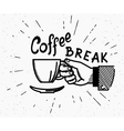 Retro coffee break crafted vector image