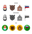 russia country nation matryoshka russia vector image