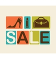 Sale and shopping background vector image vector image