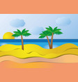 sea view in summer with water play equipment vector image vector image