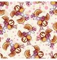 Seamless pattern with ice cream orange berries vector image vector image