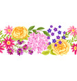 seamless pattern with pretty flowers vector image