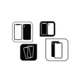 set of contour smartphones in the image of icons vector image