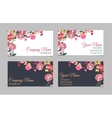 Set of two double-sided floral business cards vector image vector image