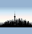 shanghai city skyline chinese urban landscape vector image vector image