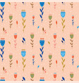 small flowers botanical seamless pattern in flat vector image vector image