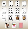 Spades Playing Cards Set vector image vector image