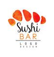 Sushi bar logo design japanese food emblem