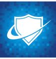 Swoosh Shield Icon vector image vector image