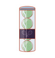 tennis ball in bottle icon vector image vector image
