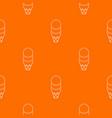 three balls ice cream pattern orange vector image vector image