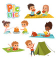 various pictures kids male and female have a vector image vector image