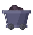 wagon with coal mining industry cargo vector image