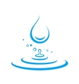 water drop and splash vector image vector image