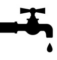 water droplets from faucet vector image vector image
