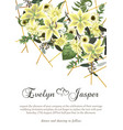 wedding floral invitation invite card vertical vector image vector image