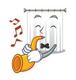 with trumpet cartoon shower curtains are very vector image vector image