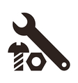 Wrench nut and bolt icon vector image vector image