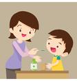 children eat medicine vector image