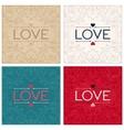 Vintage lettering design word LOVE vector image