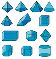 3d geometric for kid vector image vector image