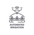 automated irrigation line icon outline sign vector image vector image