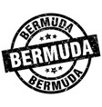 bermuda black round grunge stamp vector image vector image