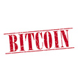 bitcoin red grunge vintage stamp isolated on white vector image vector image
