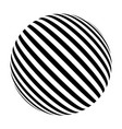black and white sphere of lines vector image