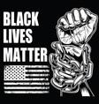 black lives matter drawing hand 6 vector image