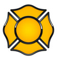 blank fire rescue logo base yellow with black trim vector image vector image