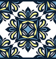 blue damask classic seamles pattern vector image