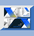 blue geometric business banner template vector image vector image