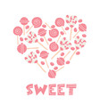 candy lover lollipop desserts sweets vector image