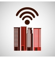 city downtown wifi connection design vector image vector image