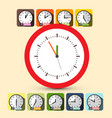 clock set five to twelve vector image vector image