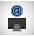 computer device mail network icon vector image vector image