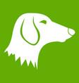 dachshund dog icon green vector image vector image