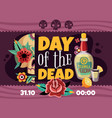 dead day announcement poster vector image vector image