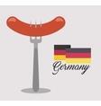 delicious sausage food icon vector image vector image